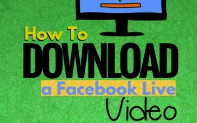 How to download a Facebook Live video